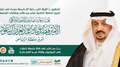 Photo of برعاية سمو أمير الرياض جامعة شقراء تحتفل بخيريجيها أفتراضيا