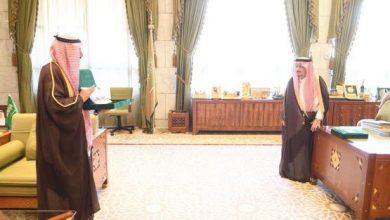 Photo of سمو أمير منطقة #الرياض يستقبل رئيس جامعة #شقراء .