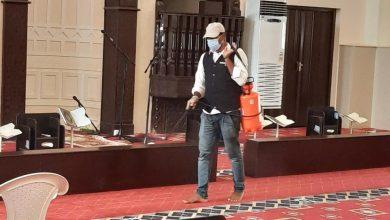 Photo of خيرية القصب مستمرة في تعقيم المساجد الدوائر الحكومية